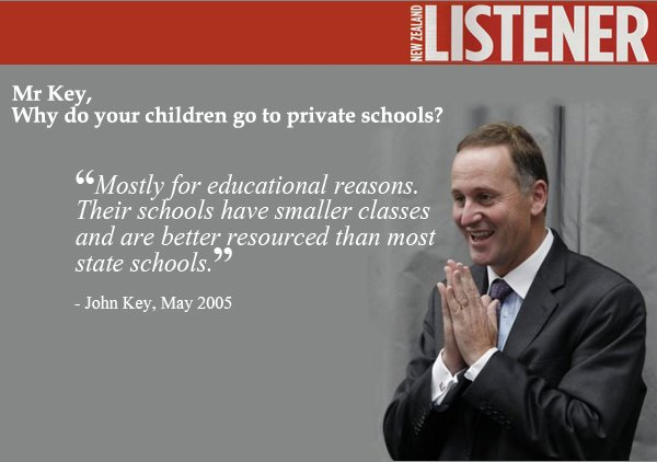 1 john key education class sizes NZ Politics Daily - Bryce Edwards Otago University liberation blog - www.liberation.org.nz