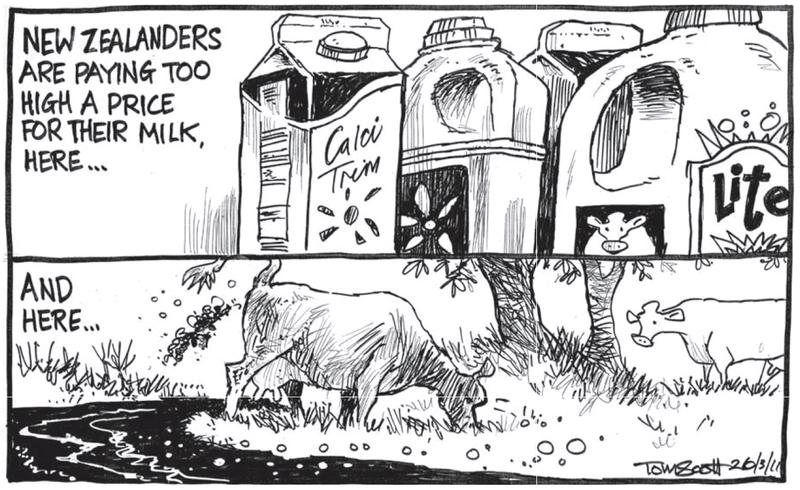 Environment milk dairying NZ Politics Daily - Bryce Edwards Otago University liberation blog - www.liberation.org.nz