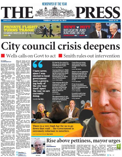 1 chch council NZ Politics Daily - Bryce Edwards Otago University liberation blog - www.liberation.org.nz