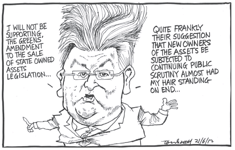 7 peter dunne asset sales NZ Politics Daily - Bryce Edwards Otago University liberation blog - www.liberation.org.nz