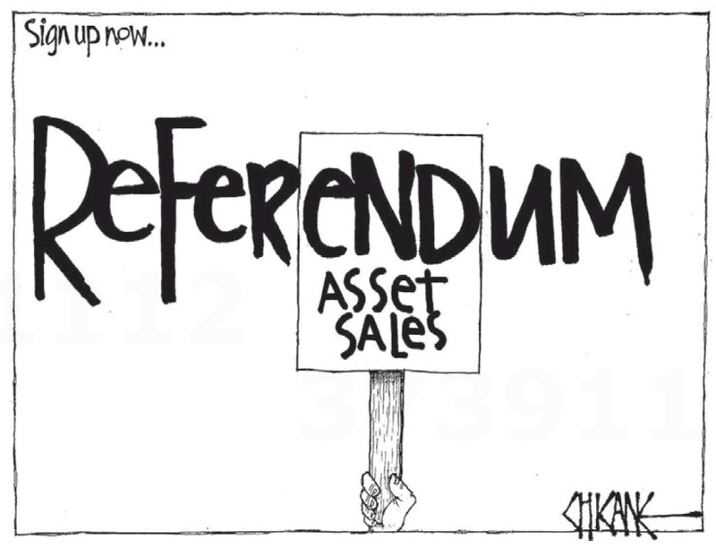 8 referendum asset sales NZ Politics Daily - Bryce Edwards Otago University liberation blog - www.liberation.org.nz