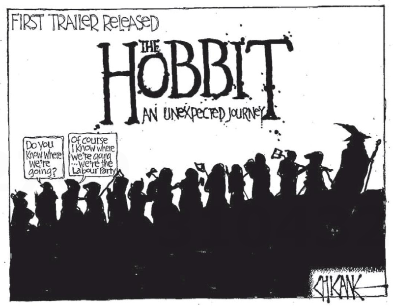Hobbit labour party NZ Politics Daily - Bryce Edwards Otago University liberation blog - www.liberation.org.nz