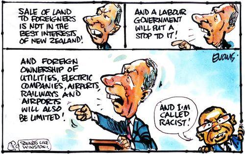 Z labour party xenophobia farms crafar NZ Politics Daily - Bryce Edwards Otago University liberation blog - www.liberation.org.nz