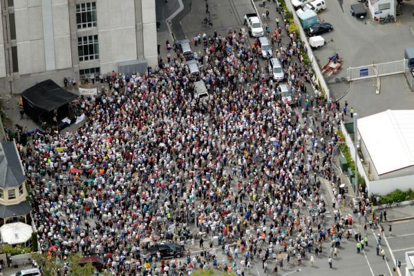 Christchurch protest NZ Politics Daily - Bryce Edwards Otago University liberation blog - www.liberation.org.nz