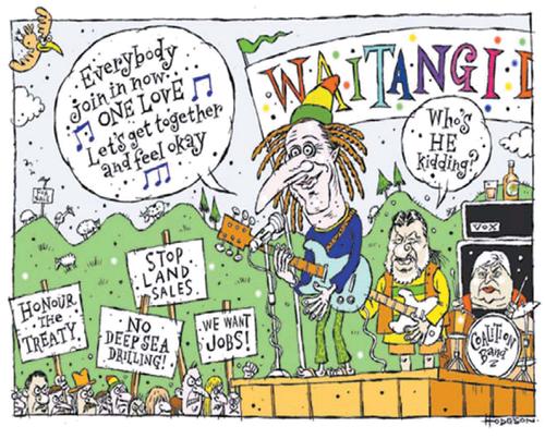 John key waitangi NZ Politics Daily - Bryce Edwards Otago University liberation blog - www.liberation.org.nz