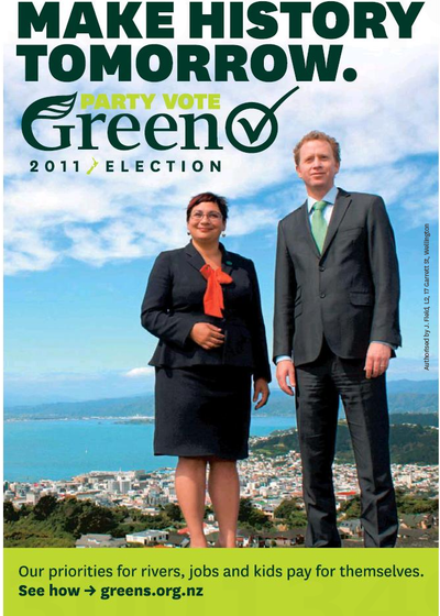 2 make history with greens NZ Politics Daily - Bryce Edwards Otago University liberation blog - www.liberation.org.nz