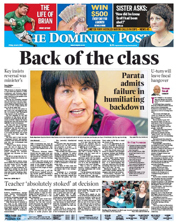 1 parata class NZ Politics Daily - Bryce Edwards Otago University liberation blog - www.liberation.org.nz