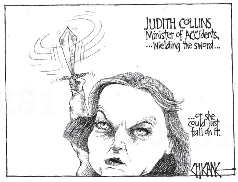 1 Judith Collins ACC minister of ACCidents NZ Politics Daily - Bryce Edwards Otago University liberation blog - www.liberation.org.nz