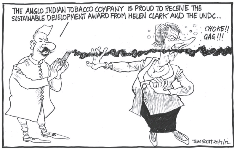 2 smoking helen clark tobacco NZ Politics Daily - Bryce Edwards Otago University liberation blog - www.liberation.org.nz