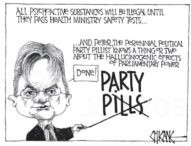 8 party pills peter dunne NZ Politics Daily - Bryce Edwards Otago University liberation blog - www.liberation.org.nz