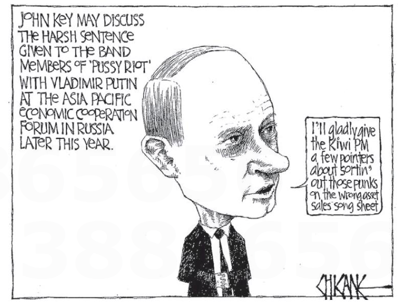 1 John Key putin NZ Politics Daily - Bryce Edwards Otago University liberation blog - www.liberation.org.nz
