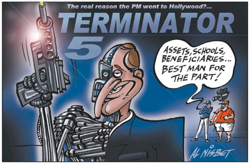 Z Terminator 5 john key NZ Politics Daily - Bryce Edwards Otago University liberation blog - www.liberation.org.nz