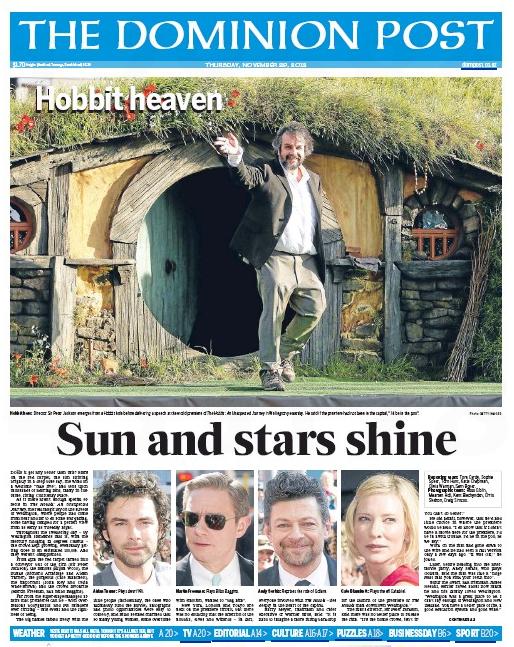 2.5 The Hobbit Peter Jackson NZ Politics Daily - Bryce Edwards Otago University liberation blog - www.liberation.org.nz