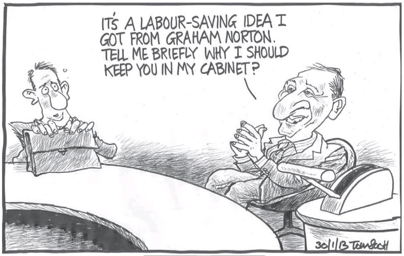 Dominion Post 30 January 2013 John Key Cabinet reshuffle