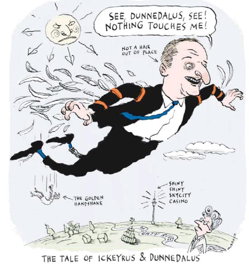 Dominion Post 9 March 2013 John Key Dunne SkyCity