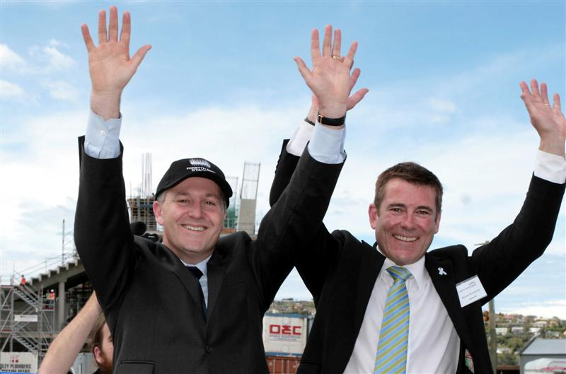 1 prime_minister_john_key_and_national_mp_michael_wo_ Dunedin