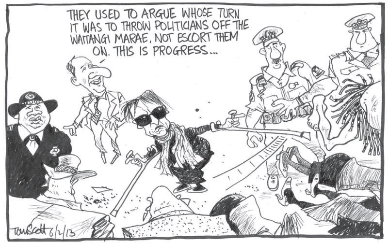 1 Dominion Post 6 February 2013 Titewhai Harawira Waitangi Day - Bryce Edwards NZ Politics
