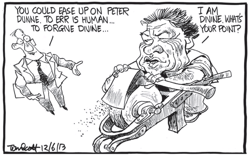 Dominion Post 12 June 2013 Winston Peters Peter Dunne