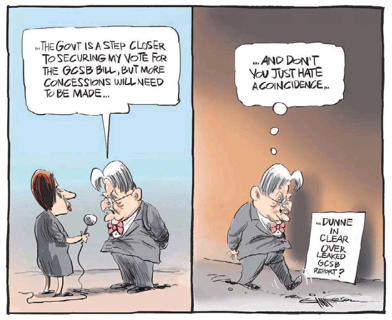 NZ Herald 12 July 2013 Peter Dunne GCSB