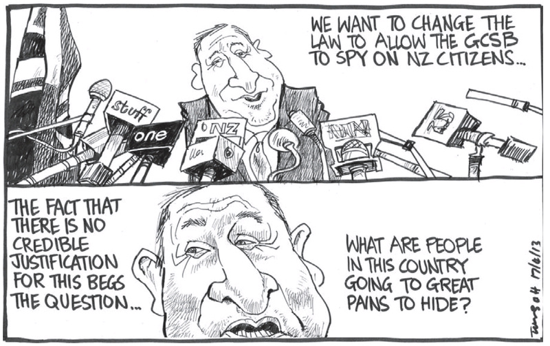 Dominion Post 17 April 2013 John Key GCSB