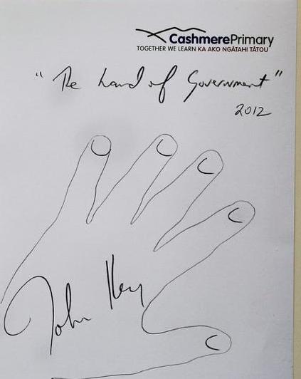 John Key hand of government