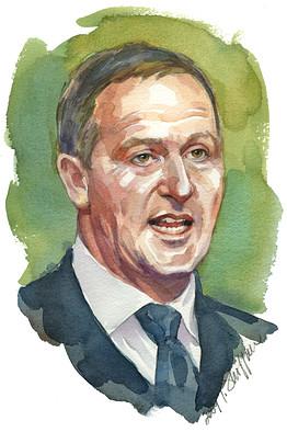 John Key painting