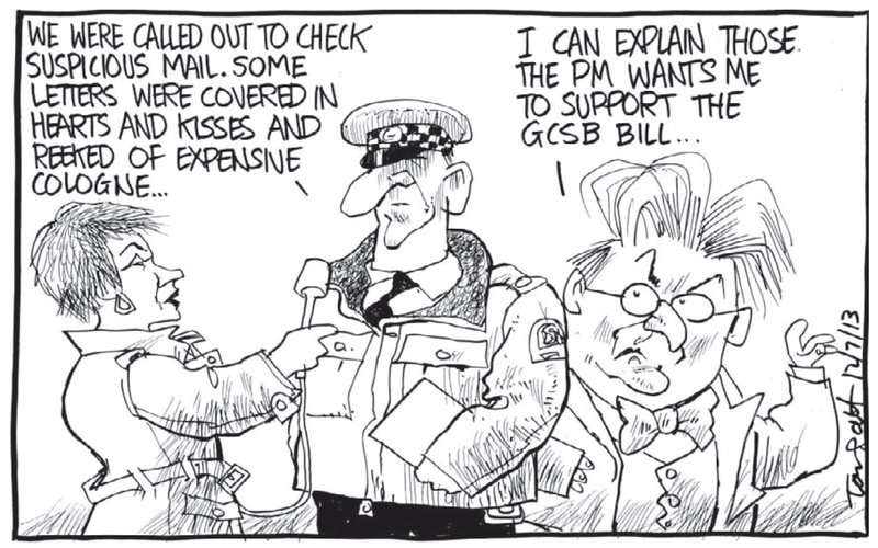 Dominion Post 12 July 2013 GCSB Peter Dunne