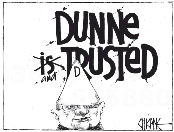 images of the peter dunne scandal  liberation