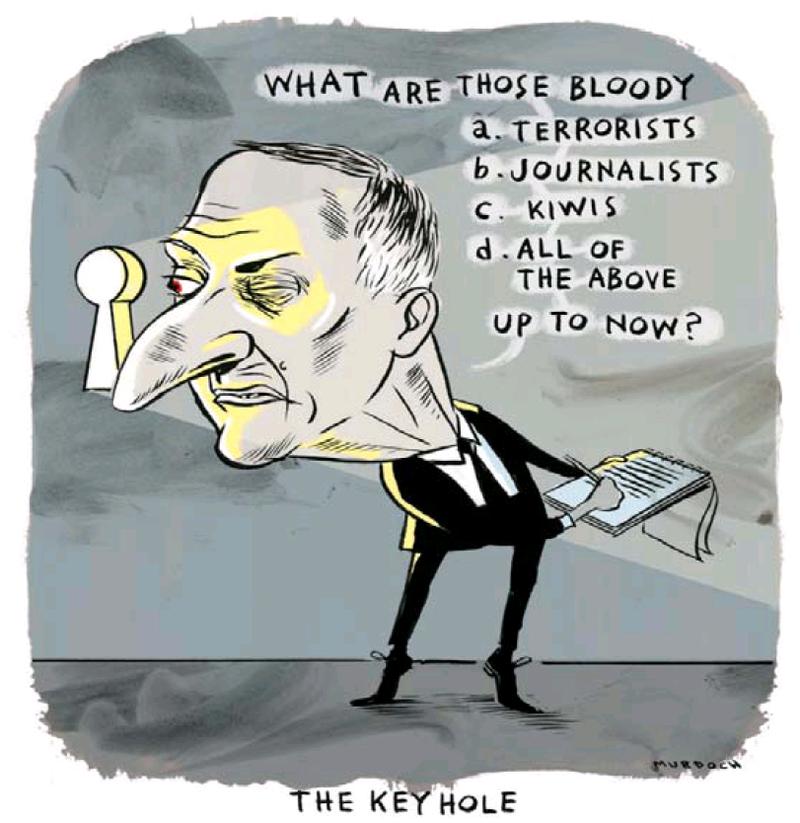 Dominion Post 3 August 2013 John Key media spying GCSB