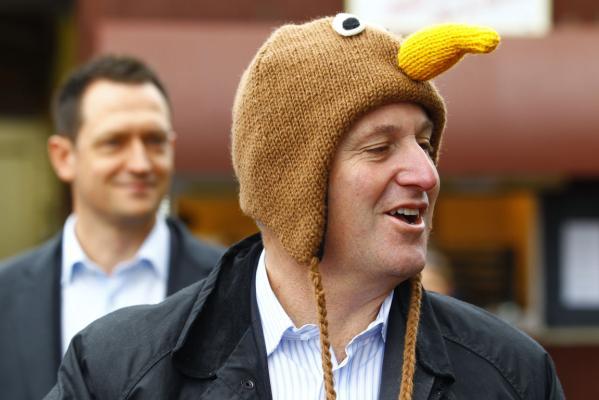 John Key hat bird national