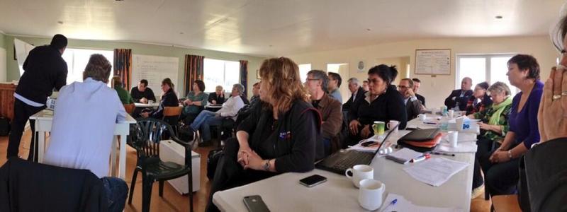 12 David Clark twitter photo of caucus retreat in Dunedin