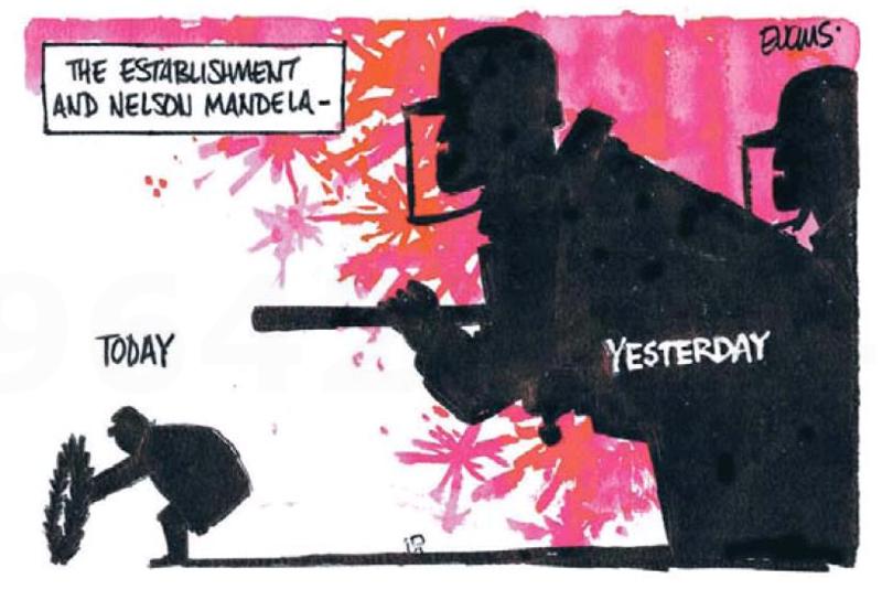 Evans - Timaru Herald 10 December 2013 Mandela South Africa