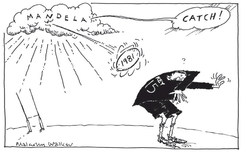 Walker - Dominion Post 11 December 2013 1981 Mandela south africa Minto