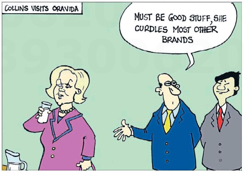 Wellingtonian 13 March 2014 Judith Collins Oravida milk