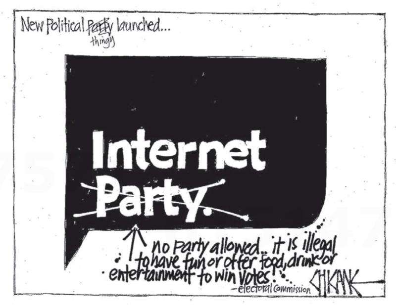 Chicane - Southland Times 17 January 2014 Dotcom Internet Party