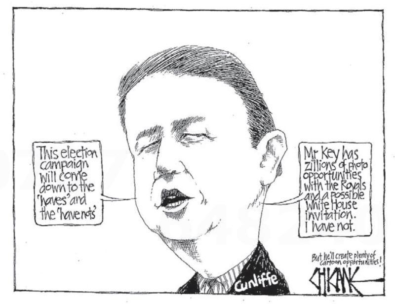 Chicane - Southland Times 9 April 2014 royal tour Cunliffe Labour