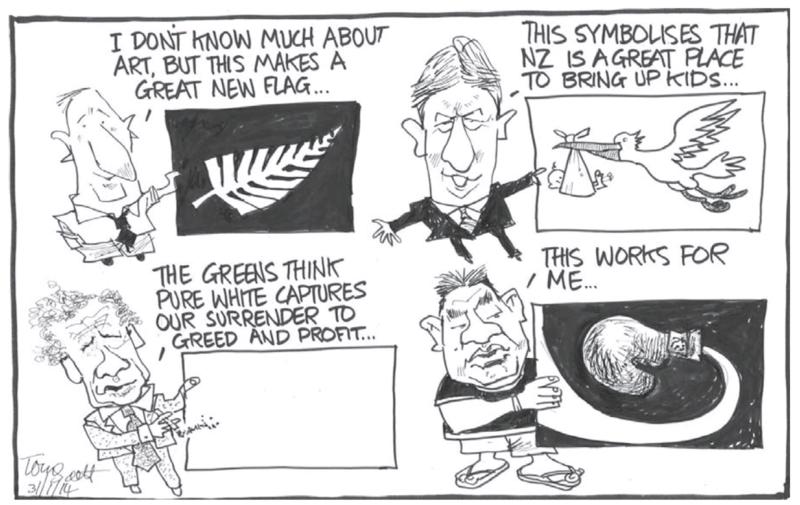 Scott - Dominion Post 31 January 2014 flag change