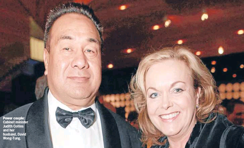 Judith Collins and husband