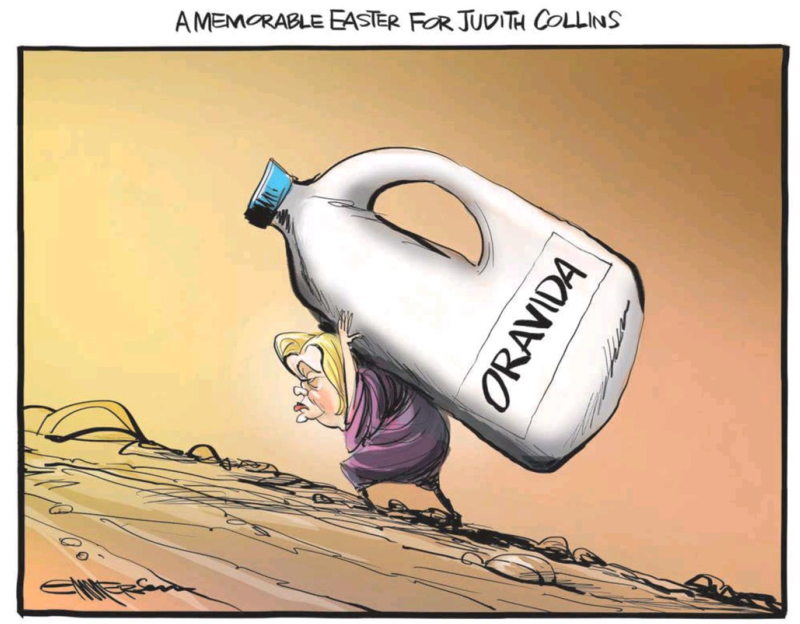 Emmerson - NZ Herald 17 April 2014 Judith Collins Oravida