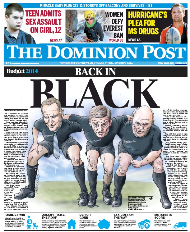 Dominion Post frontpage