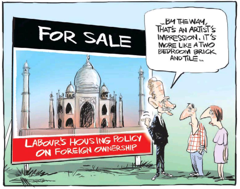 NZ Herald 30 July 2013 Labour foreigner housing ban