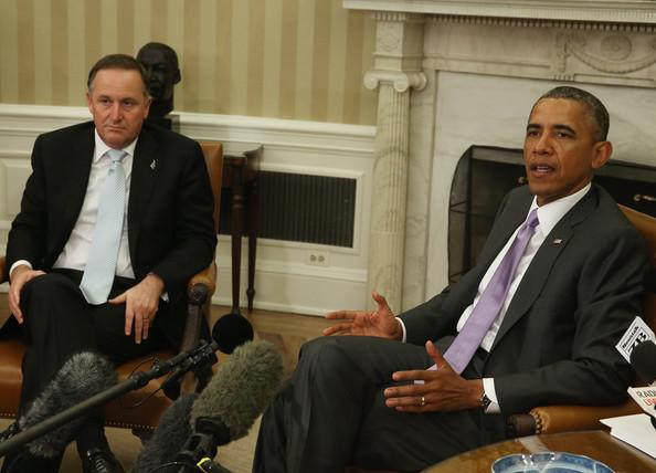4 - John Key Barack Obama