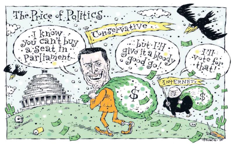 Hodgson - Dominion Post 31 March 2014 Colin Craig Conservatives money political finance Dotcom