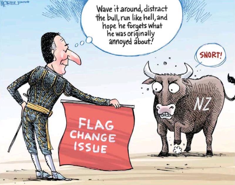 Moreu - Nelson Mail 31 January 2014 flag change john key