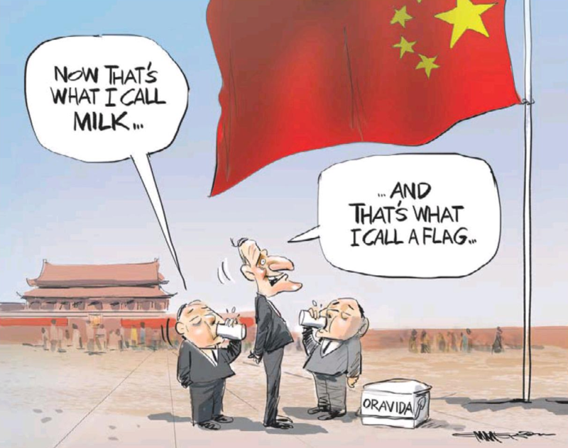 Emmerson - NZ Herald 18 March 2014 China Fonterra milk Flag john key