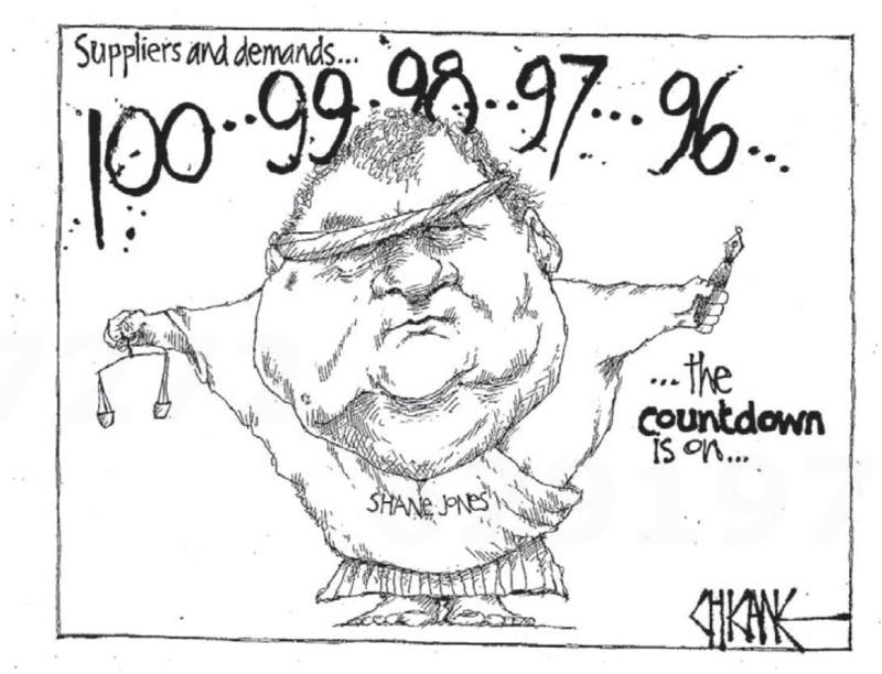 Chicane - Southland Times 20 February 2014 countdown supermarkets shane jones