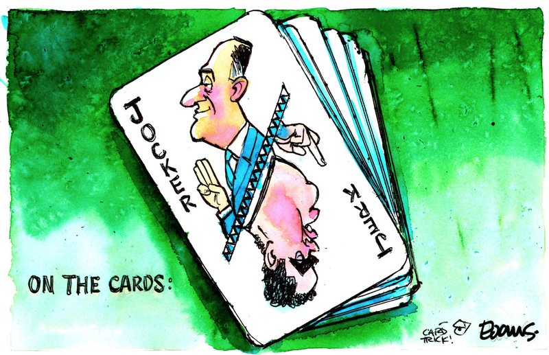 Evans Card trick Dirty Politics John Key Cameron Slater 26 August 2014