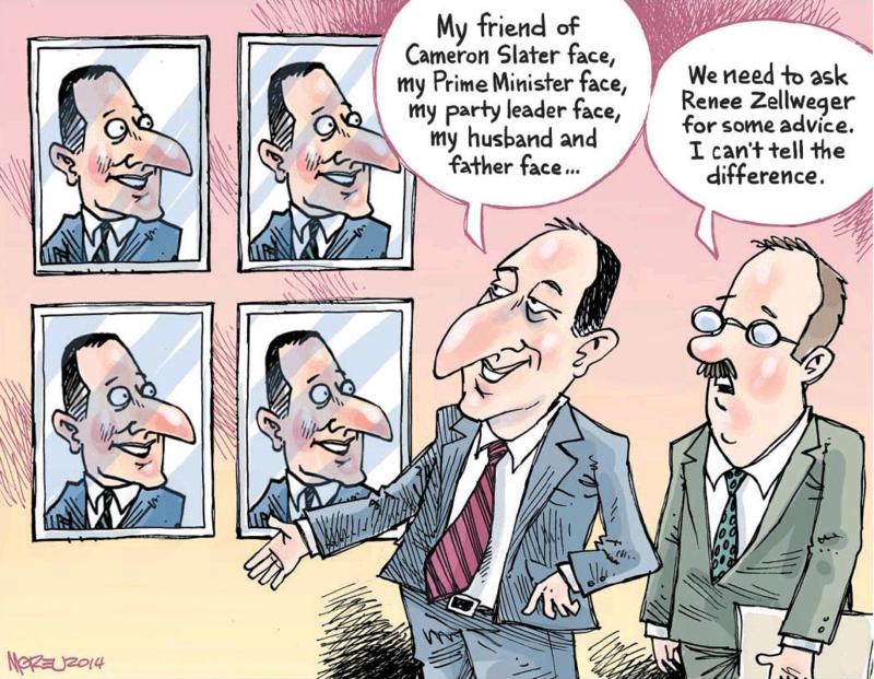 Moreu - Timaru Herald 25 October 2014 John Key Dirty Politics
