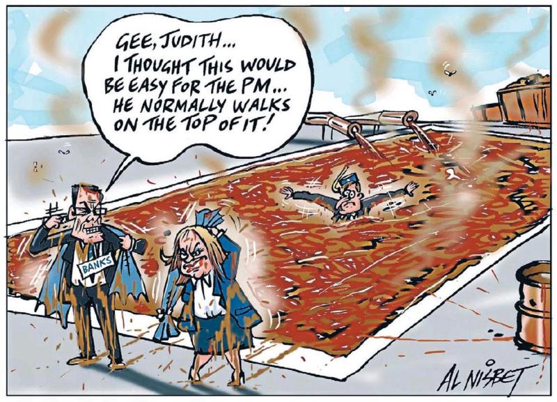 Nisbet - The Press 1 December 2014 Dirty Politics John Key collins banks