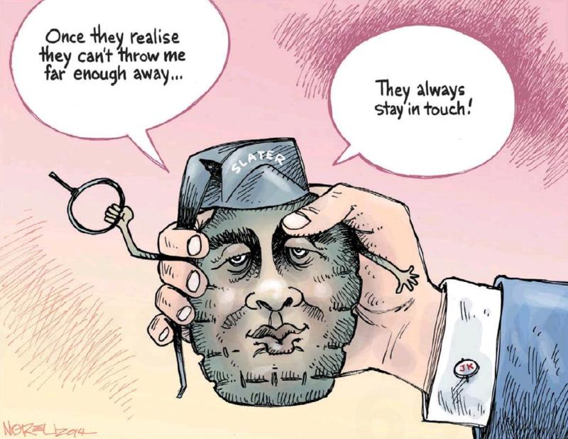 Moreu - Timaru Herald 2 December 2014 Slater Dirty Politics